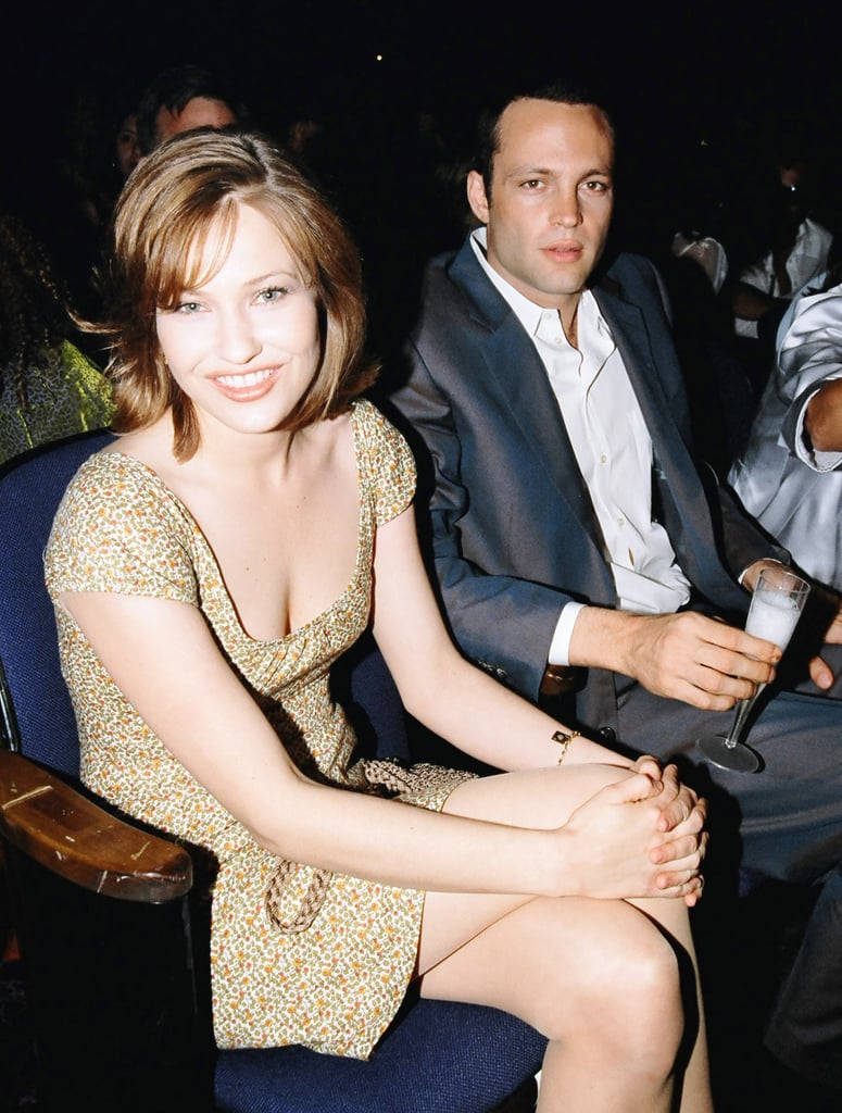 Vince Vaughn sat with Big Daddy's Joey Lauren Adams.