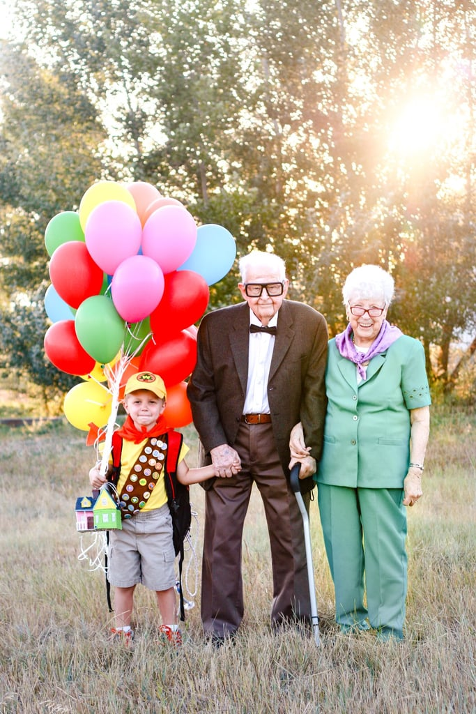 "When photographer Rachel Perman asked her 5-year-old twins what themes they wanted for their birthday photo shoots, her son Elijah didn't hesitate in choosing his favorite movie, Disney Pixar's Up. After his 90-year-old great-grandpa Richard Bain heard about the shoot, he decided to step in as the Carl to Elijah's Russell, and the photos are heart-meltingly adorable. ""My son is obsessed with Up, so it seemed like a sweet idea to get my grandparents involved with the process,"" Rachel said. ""Elijah is borderline addicted to Up and has been for several years. It's the only thing he draws and colors, the only books he wants to get at the library, and the only toy he wanted when we were in Disney World last year . . . He loves Up.""  ""It's a celebration for me and them!""  Just when it seemed like things couldn't get any sweeter, Elijah's 90-year-old great-grandma Caroline showed up to join her husband and great-grandson dressed as Ellie, making it a special moment for the whole family. ""I chose to do magical shoots for my twins this year because, five years ago, I was diagnosed with cancer right after my twins were born and had fears if I would even get to see their fifth birthday,"" the Colorado mom-of-three said. ""My oldest was 5 at the time, and I hated not knowing if I would get the same time with them that I got with her. So, for their fifth birthday, I wanted to celebrate the things they love with photos! It's a celebration for me and them!"" Elijah's twin sister Emilee went for a mystical princess theme for her birthday photo shoot, which included a puffy pink dress, matching flowers, and a white horse with a unicorn horn. ""The kids loved the shoots!"" Rachel added. ""They see me leave frequently to take other people's photos so they were excited to do something special . . . It's been fun to see how many people are touched by it! I keep telling the kids, 'You are good at bringing happiness to us, now you are making the nation happy, too!'"" So sweet! Keep scrolling to see more of Elijah and Emilee's absolutely magical birthday photo shoots.       Related:                                                                                                           This Toddler Walked Right Into a Pond in the Middle of His Family Photo Shoot, and I Can't Stop Cackling"