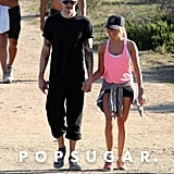 Ashley Tisdale hiked in Runyon Canyon with boyfriend Christopher French.