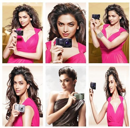 Actress Deepika Padukone for Sony Ad
