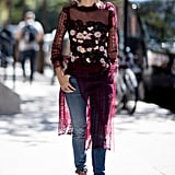 Sheer Layers Go From Sexy to Quirky When You Rock 'Em With Some Skinnies