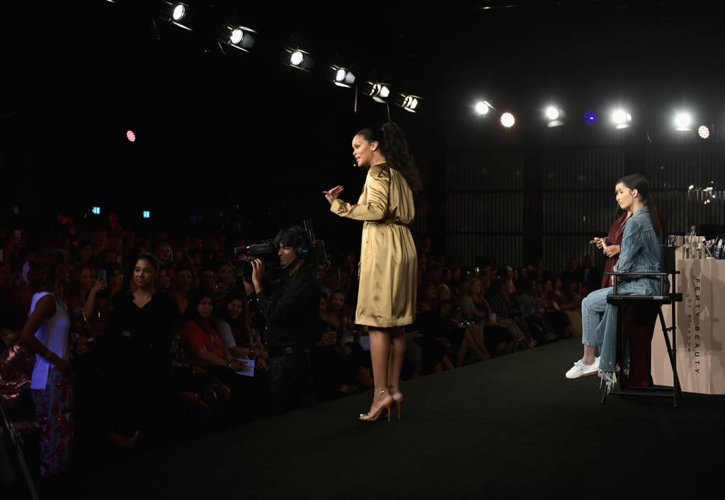 Rihanna Trench Dress at Fenty Beauty Dubai Event 2018