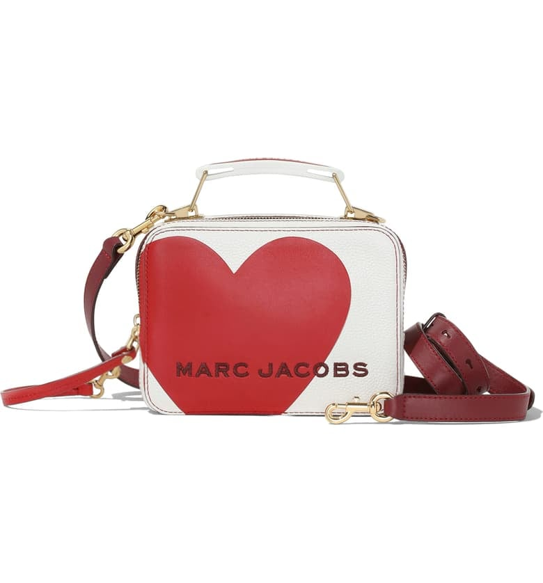 The Marc Jacobs The Box 20 Heart Leather Crossbody Bag