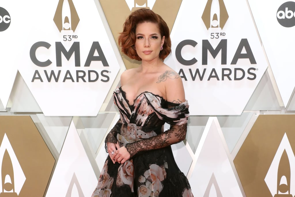 Halsey Stuns in Off-the-Shoulder Dress at the CMA Awards