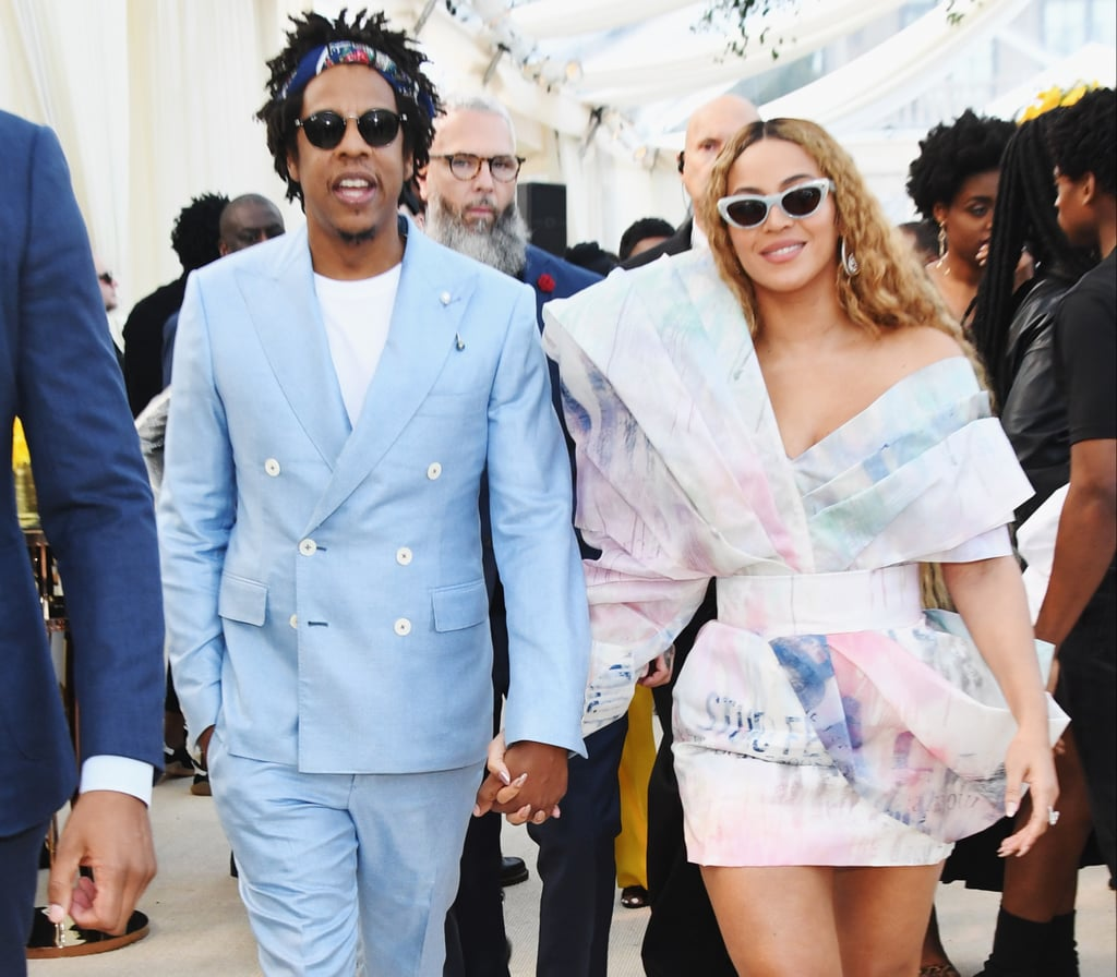 Beyoncé Balmain Dress and Heels at Roc Nation Brunch 2019