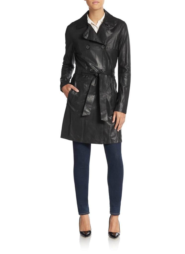 Mackage Olesya Leather Trenchcoat ($890)