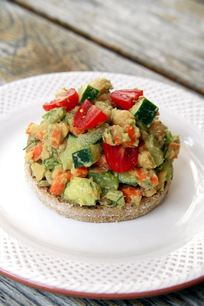 Side Dish: Smashed Avocado Chickpea Salad