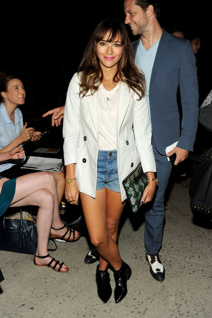 Rashida Jones rocked a cute outfit for the Band of Outsiders show on Sunday.
