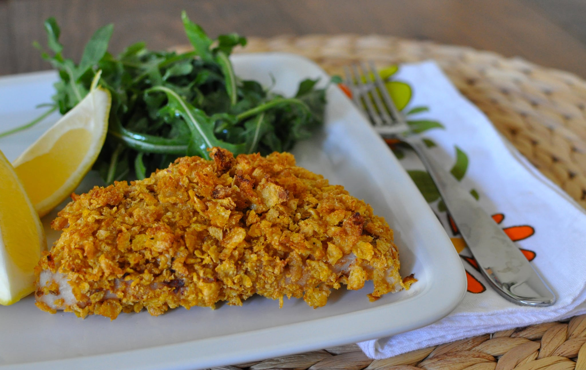 Healthy cornflake crusted fish recipe popsugar food for Delicious fish recipes