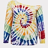 Torrid Rainbow Tie-Dye Off-the-Shoulder Sweatshirt