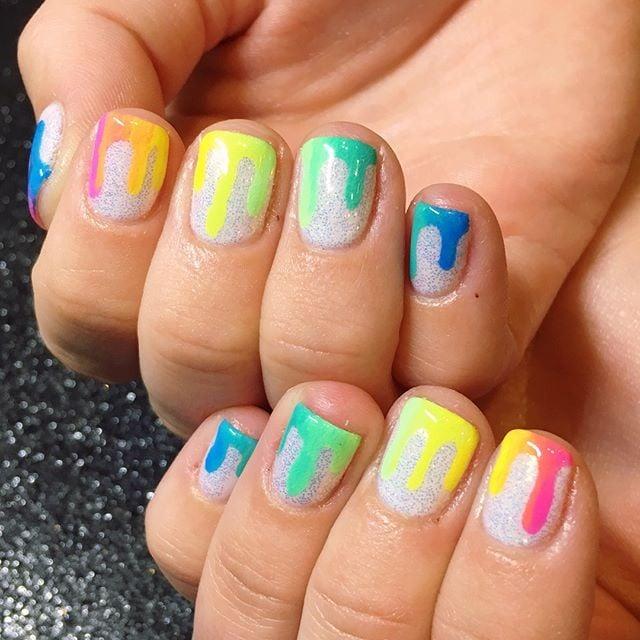 Neon Nail Art Ideas Popsugar Beauty