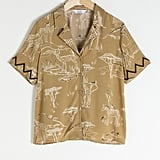 & Other Stories Safari Print Button Up Shirt