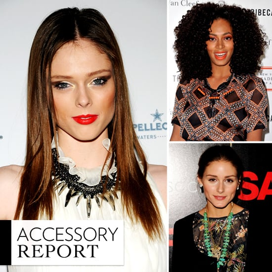 Celebrities Wearing Tribal Necklaces Spring 2012