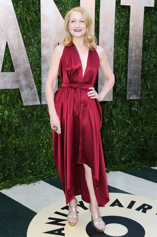 Patricia Clarkson arrived at the Vanity Fair Oscar party on Sunday night.