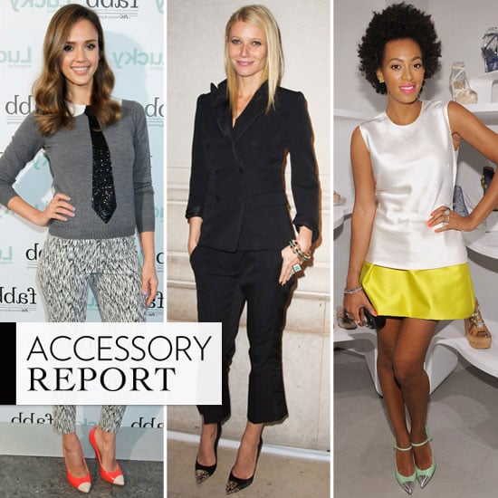 Put a Cap on It: Jessica, Gwyneth, Solange, and More Wear The Ladylike Cap-Toe Trend