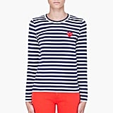 Eternally preppy, the striped shirt gets a fashionable twist with Comme Des Garcon's version ($200).
