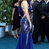 A Blue Lace Gown