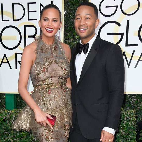 John Legend and Chrissy Teigen at the 2017 Golden Globes