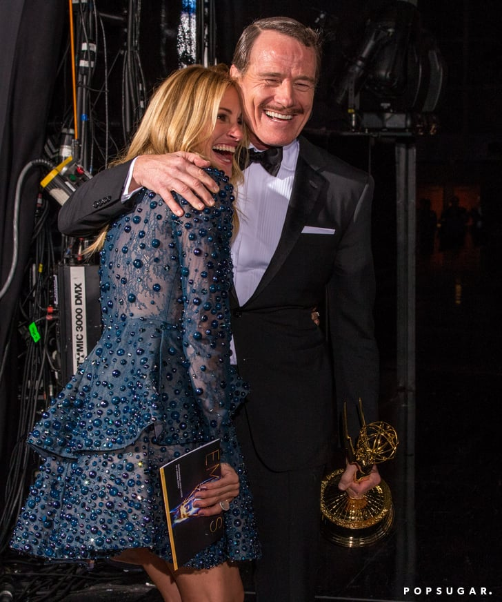 Julia Roberts shared a smile with Bryan Cranston after his big win.