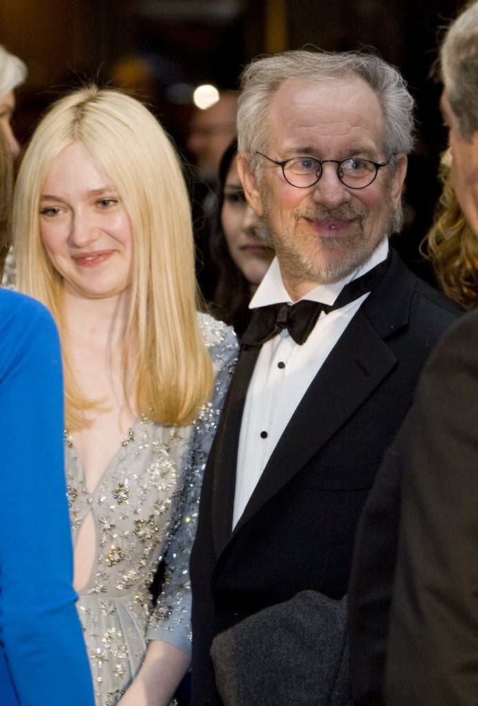 Dakota Fanning and Steven Spielberg joined other celebrities at the White House Correspondant's Dinner.