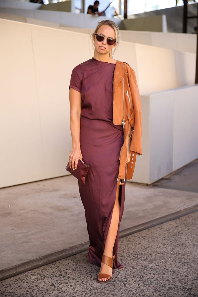 Cranberry and Tan Is the Colour Combo You Haven't Tried Yet