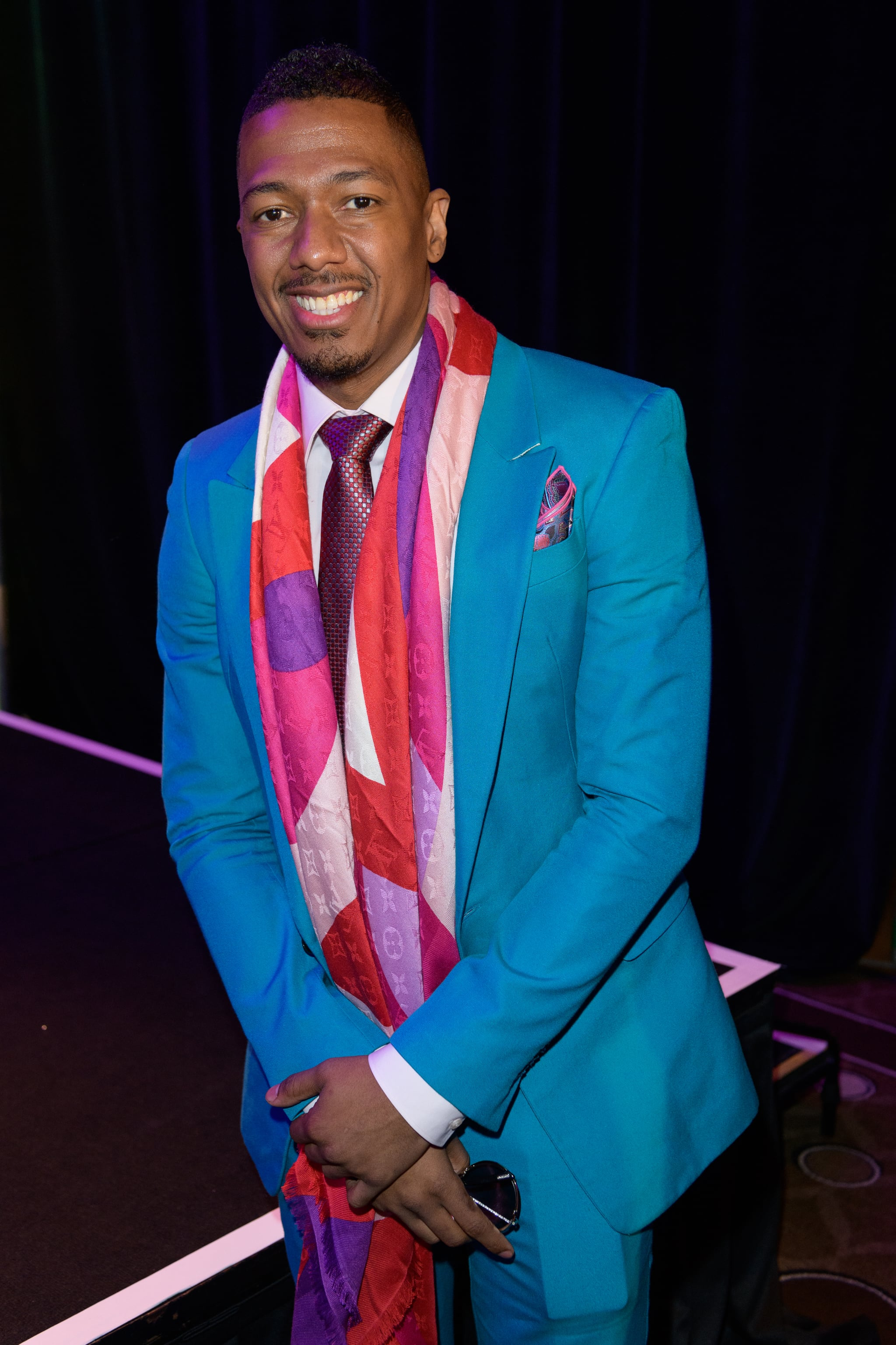 MIAMI BEACH, FL - JANUARY 22:  Nick Cannon poses for a portrait during NATPE Miami 2020 - Iris Awards at Fontainebleau Hotel on January 22, 2020 in Miami Beach, Florida.  (Photo by Jason Koerner/Getty Images)