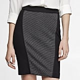 Your perfect work skirt found in this Express pieced knit pencil skirt ($50).