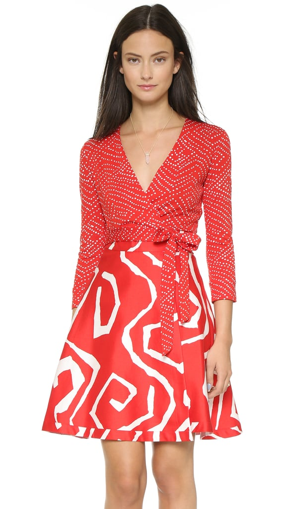DVF Amelia Wrap Dress ($498)