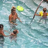 Jamie Lynn Spears in a bikini with Maddie Aldridge and Lynne Spears.