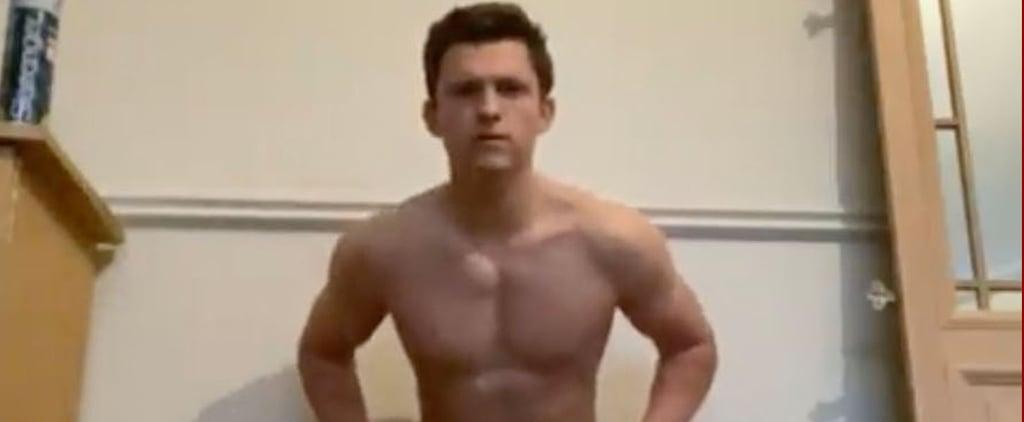 Tom Holland Shirtless Handstand Instagram Challenge | Video