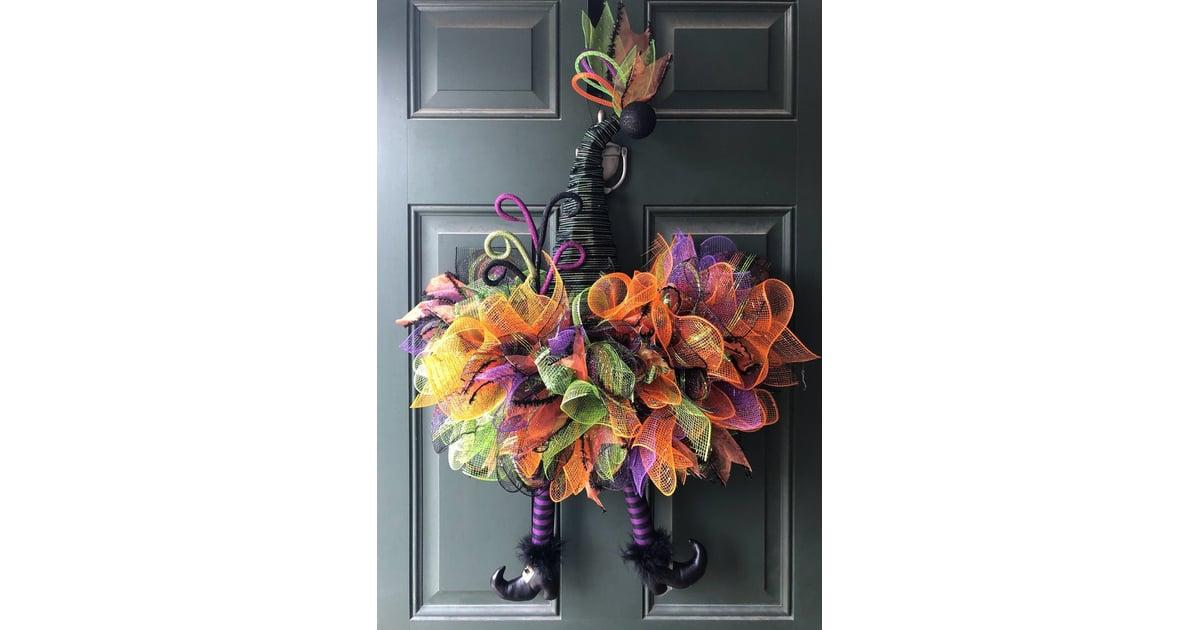 Halloween Witch Hat Wreath Best Halloween Wreaths Popsugar Home Photo 42