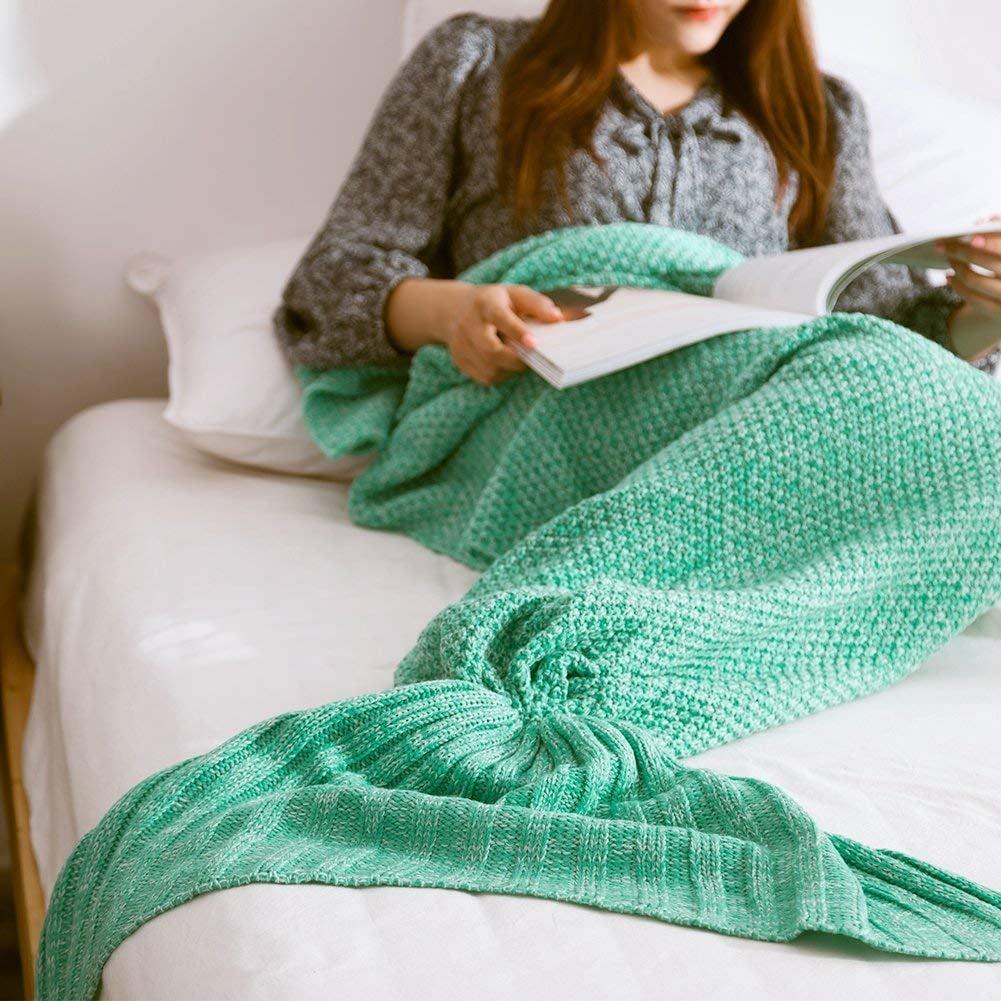Mermaid Knitted Blanket