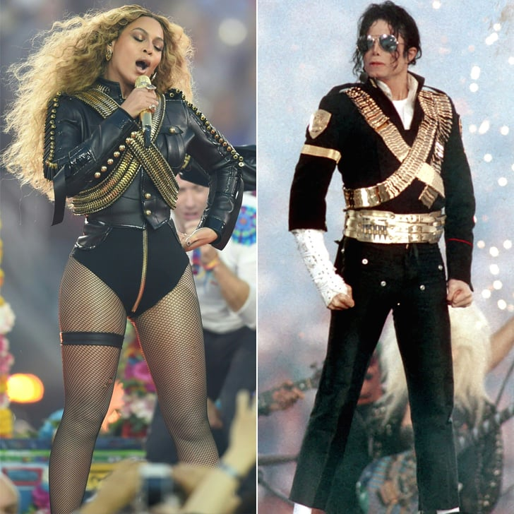 Beyoncé's and Michael Jackson's Military-Inspired Super Bowl Outfits