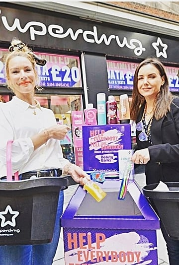 """Beauty Banks """"Beauty Spot"""" Donation Points in Superdrug"""