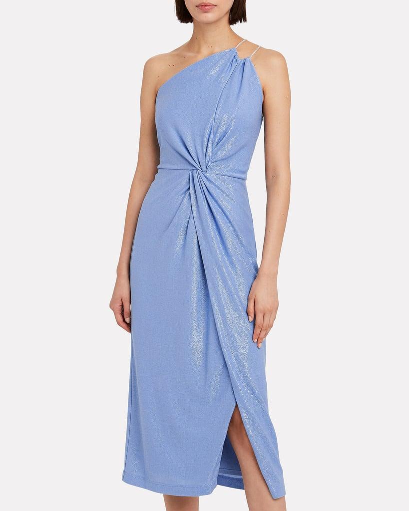 Michelle Mason Twist Knot Shimmer Dress
