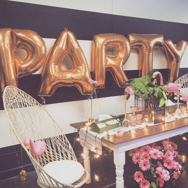 See? Letter balloons couldn't be more perfect for a party!