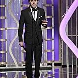 Sacha Baron Cohen presented Les Misérables.