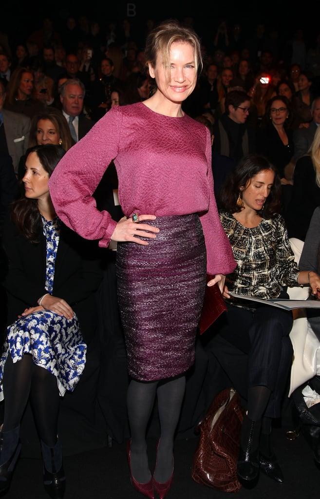 Renée Zellweger attended NYFW.