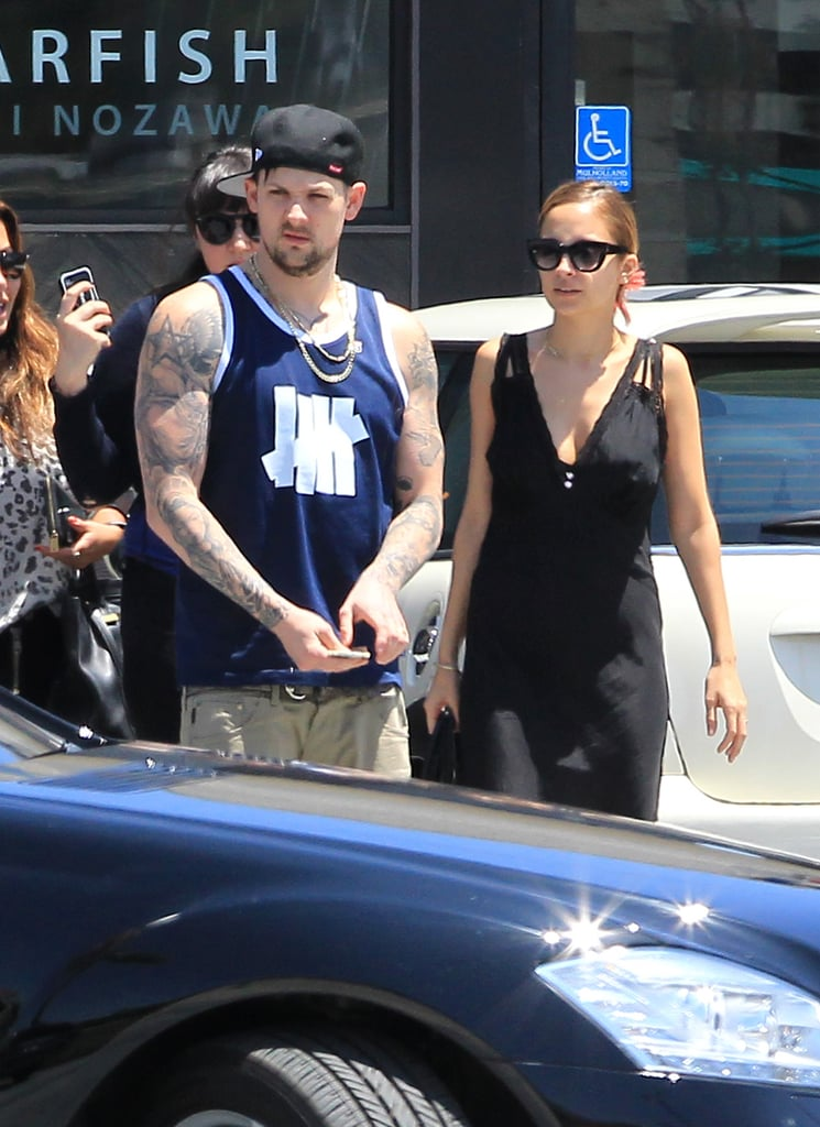 Nicole Richie and Joel Madden hung out with friends in LA in June 2012.