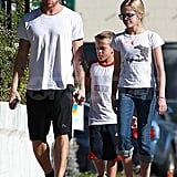 Ryan Phillippe wore a Phillies cap to lunch with Ava and Deacon.