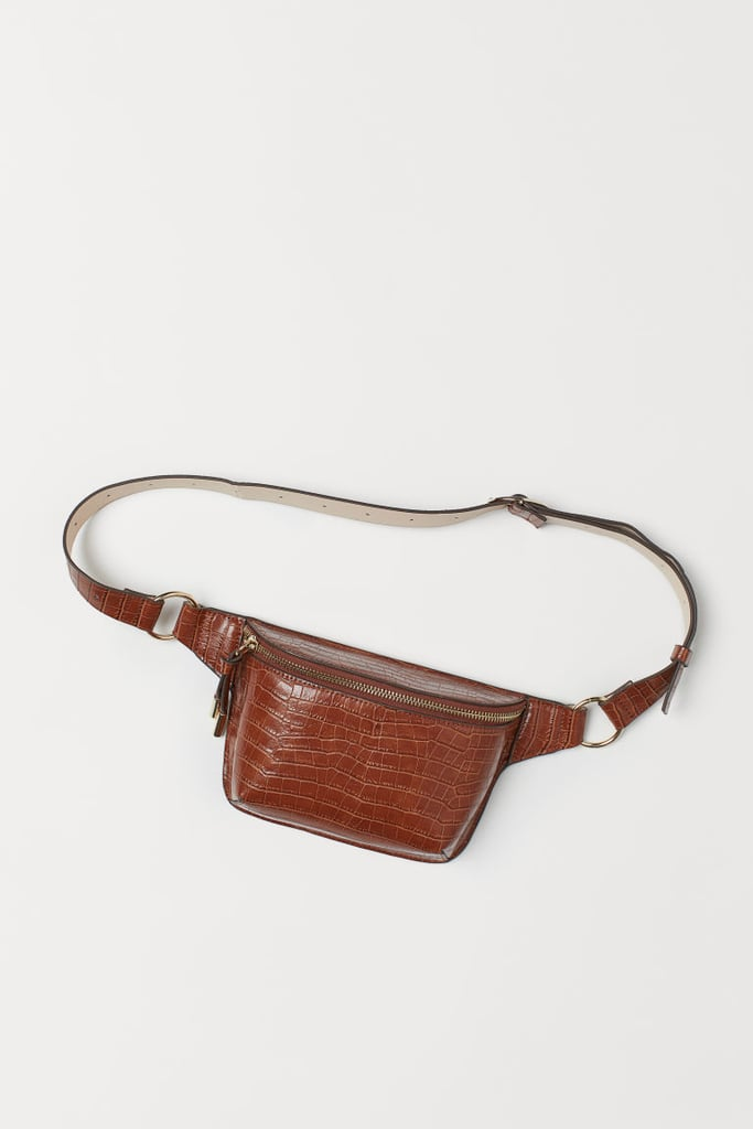 H&M Crocodile-Patterned Belt Bag