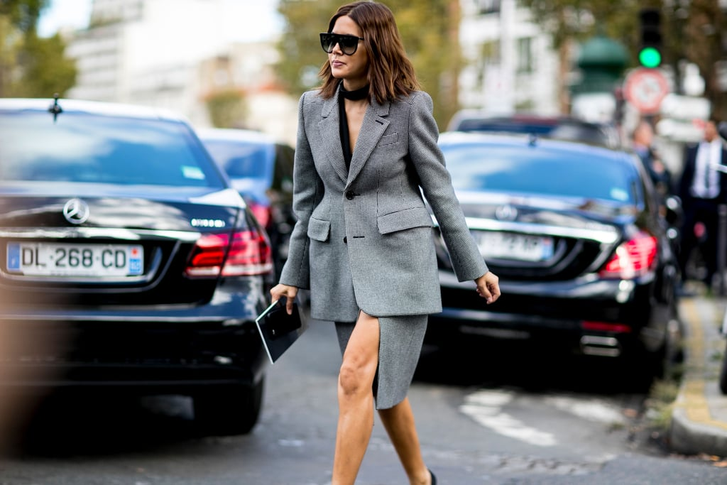 Christine Centenera wearing Balenciaga at Paris Fashion Week