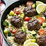 Greek Meatballs and Lemon Dill Rice