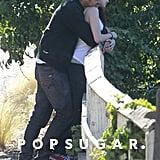 Rupert Sanders hugged Kristen Stewart.