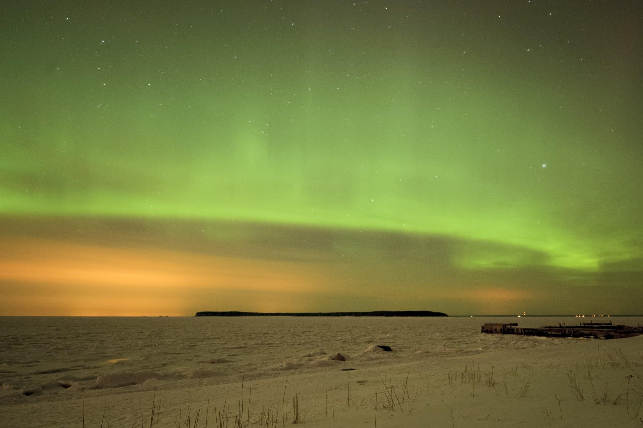 The aurora borealis was seen from Tallinn, Estonia, in March 2013.