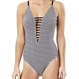 Time and Tru Gingham Strappy One-Piece
