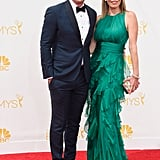 Ty Burrell and Holly Anne Brown at the 2014 Emmy Awards