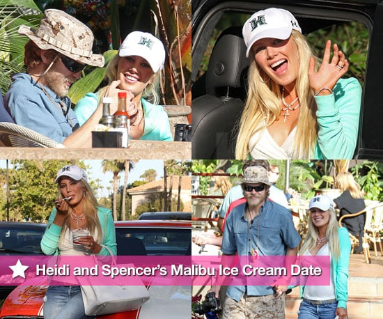 Pictures of Heidi Montag and Spencer Pratt Getting Ice Cream in Malibu