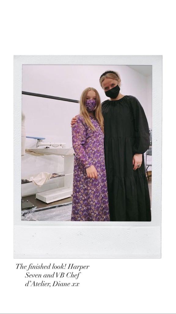 Harper's Outfit For Victoria Beckham's Spring 2021 Presentation