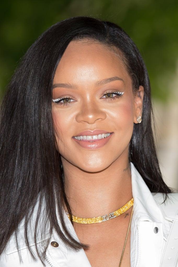 Rihanna With White Eyeliner